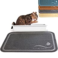 Kittycentric Cat Litter Mat with Scatter Control, X-Large, 35.4″ L x 23.5″ W, Dark Grey