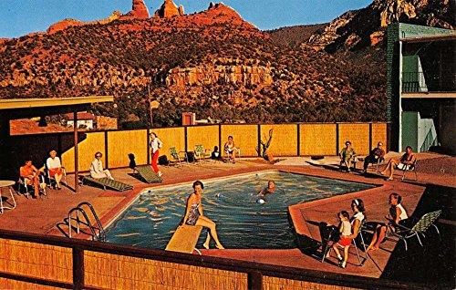 Sedona Arizona Matterhorn Motor Lodge Pool View Antique Postcard K37433