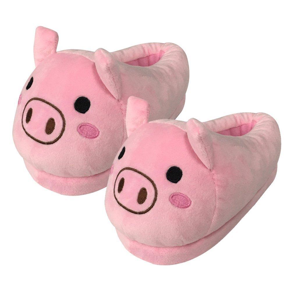 Scarpe inverno caldo pantofole Emoji sveglia molle molle molle della peluche del fumetto pantofole Pink pig 037fab