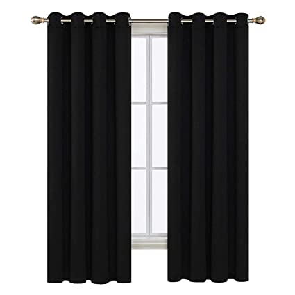 Hamonical Thermal Insulated Bedroom Blackout Curtains Ring Top Blackout  Curtains For Kids Bedroom With Two Matching
