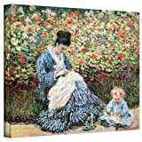 Art Wall Mother and Child Gallery Wrapped Canvas by Claude Monet, 36 by 48-Inch