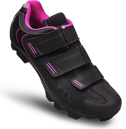 Zapatillas MTB flr, Zapatilla de Ciclismo,Negro,Rosa, Talla 36 ...