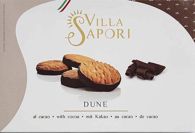 Villa Sapori Galletas Tradicionales Italianas con mantequilla y base recubierta de cacao | Dune, caja de 900 g (pack de 6 x 150 g): Amazon.es: Alimentación ...
