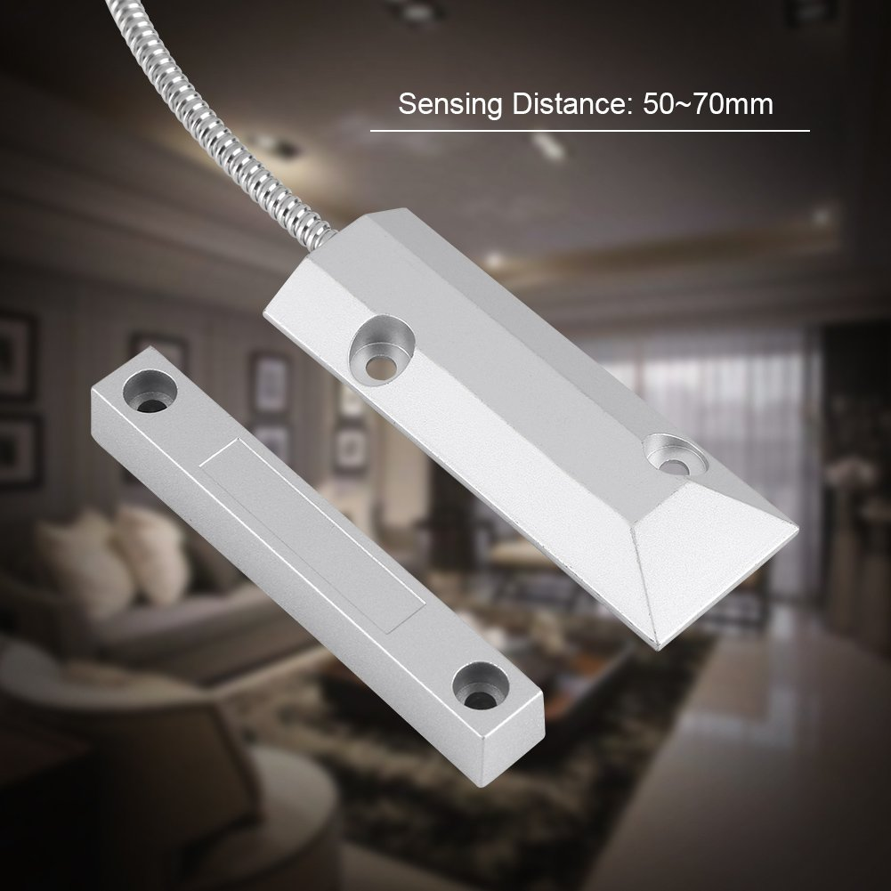 Amazon.com : Fdit Door Magnetic Contact Wired Sensor Detector Switch for Home Garage Security Alarm : Camera & Photo
