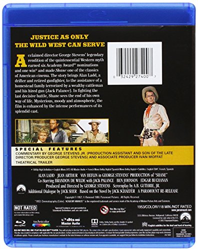 Blu-ray : Shane (Widescreen, Digital Theater System, Dolby, Dubbed, )