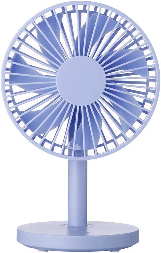 Color : Black Fan with 7 Fan Mute Haodan electronics Creative USB Mini Fan Bed Student Dormitory Desktop Office Fan Rechargeable Windy Family Travel Portable Fan