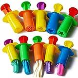 Rimobul Assorted Designs Dough Extruders Set - Set of 10 - Assorted Colors