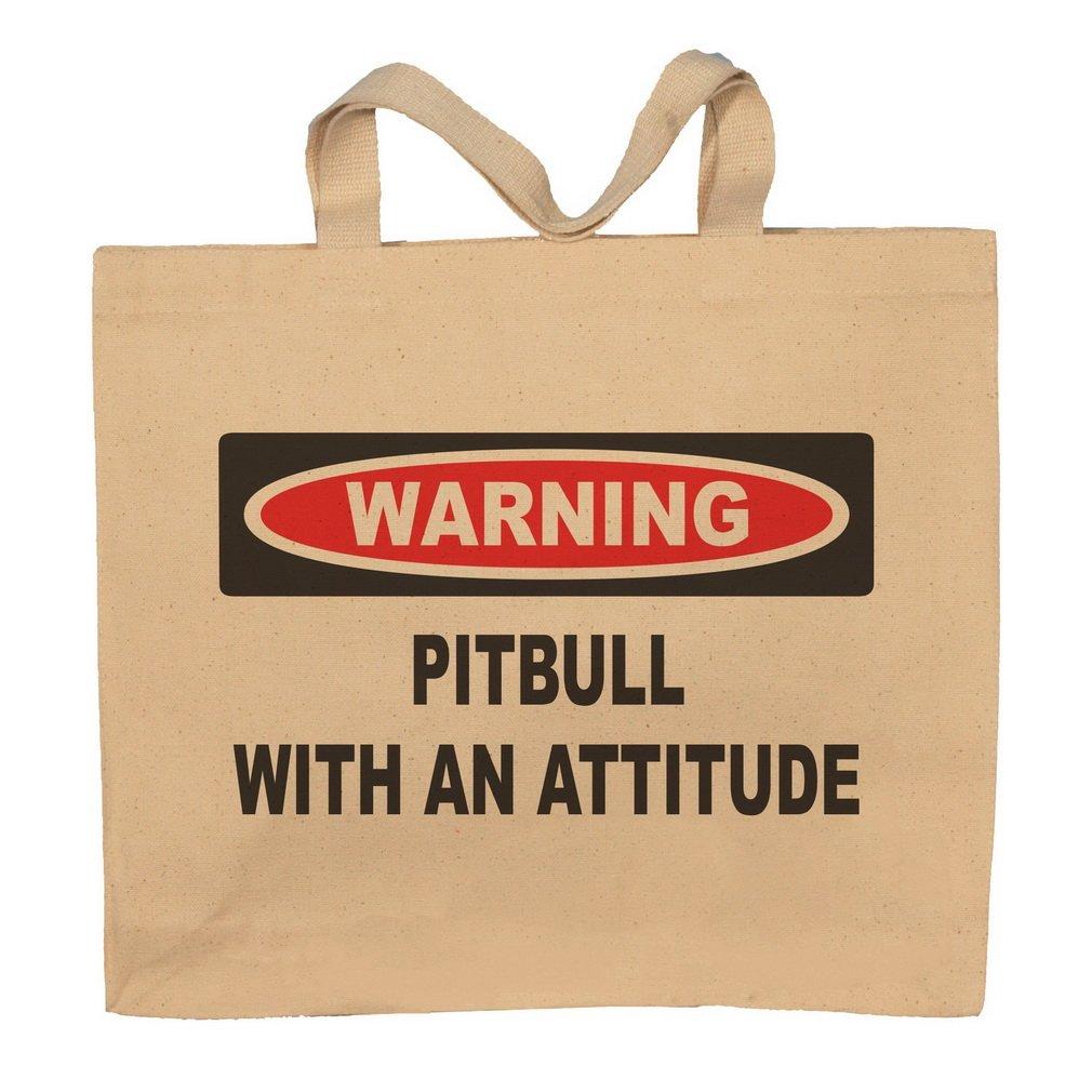 Pitbull With An Attitude Totebag Bag