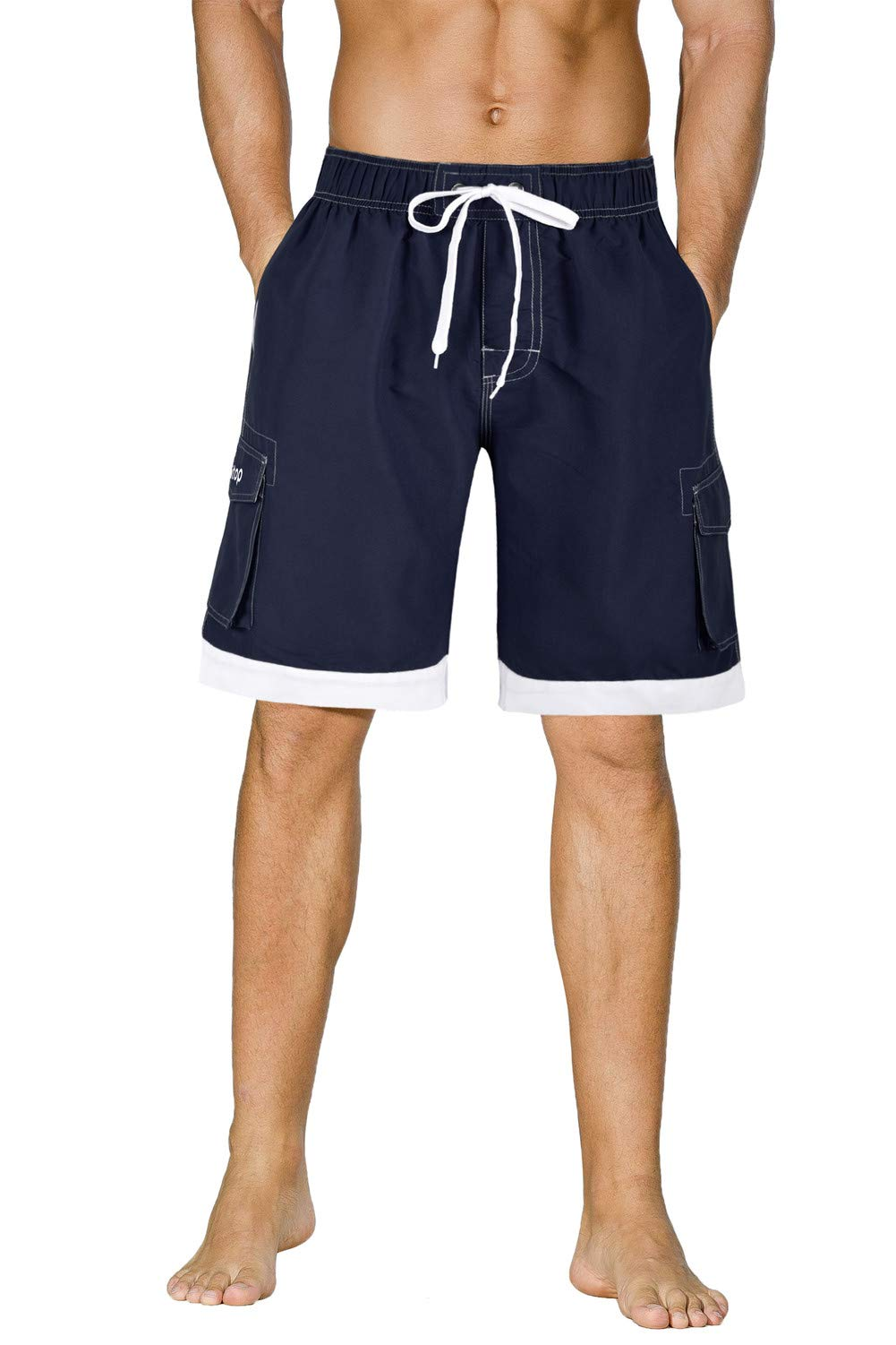 Unitop Men's Summer Holidays Casual Quick Dry Bathing Boardshorts Blue 32