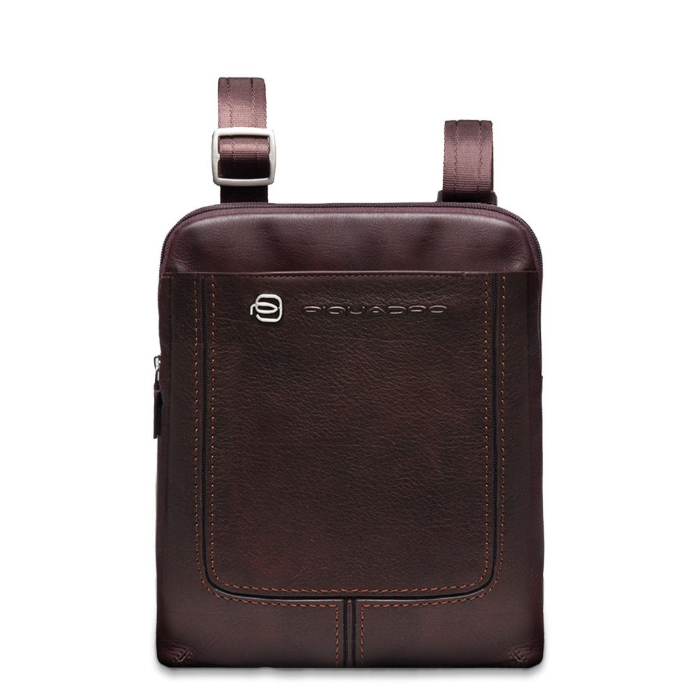 Piquadro Organized Shoulder Pocketbook with iPad Compartment, Dark Brown, One Size