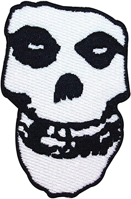 The Misfits Embroidered Iron or Sew On Patch Crimson Ghost Skull