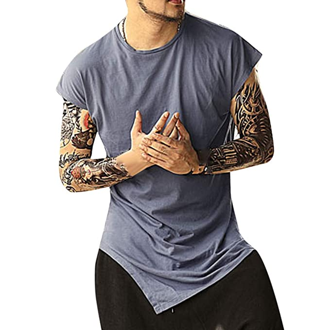 Camiseta Hombre Gym,EUZeo Rebajas,Camisa Manga Corta Verano Básica Remera Sudadera de Athletic
