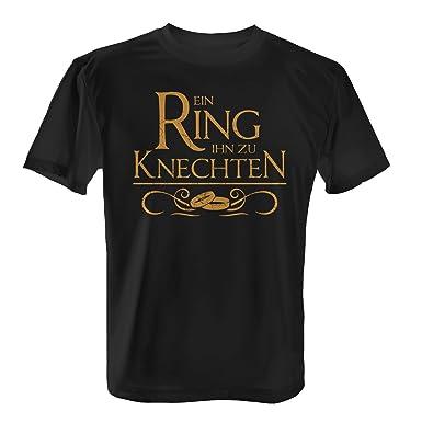 Fashionalarm Herren T Shirt Ein Ring Ihn Zu Knechten Fun Shirt