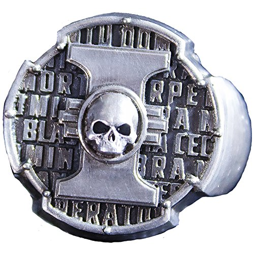 Insignia of the Inquisitor Ring for men and women - Warhammer 40000 Jewellery - Hand-made Signet Ring with Skull (silver-plated-base, (Female Insignia Ring)