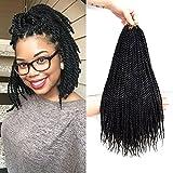 VRUnique 6 Packs (12Inch, 1B#) Senegalese Twist Crochet Hair Braids Small Havana Mambo Twist Crochet Braiding Hair Senegalese Twists Hairstyles For Black Women 30 Strands/Pack