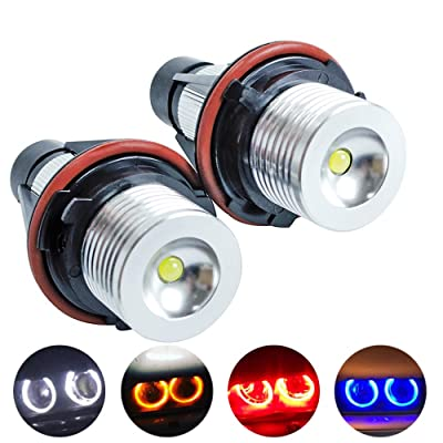 SINOVCLE ERROR FREE 2x5W LED Angel Eyes Halo Ring Marker Light Bulb Replacement Car E39 E60 E61 E63 E64 E65 E66 5 6 7 Series X3 X5 (white light): Automotive