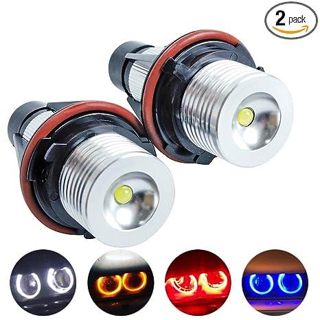 Sinovcle Error Free 2x5w Led Angel Eyes Halo Ring Marker Light Bulb Replacement For Bmw Car E39 E60 E61 E63 E64 E65 E66 5 6 7 Series X3 X5 White