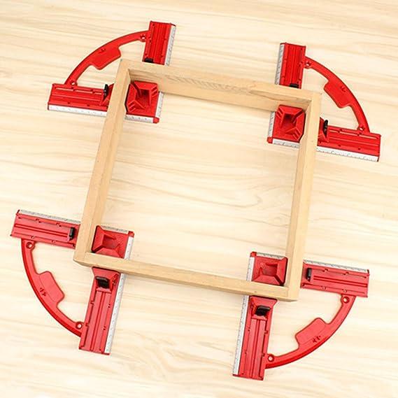 un lot de 4 pinces en alliage de zinc Pinces dangle /à angle droit /à 90 degr/és support de cadre de travail du bois /à angle droit