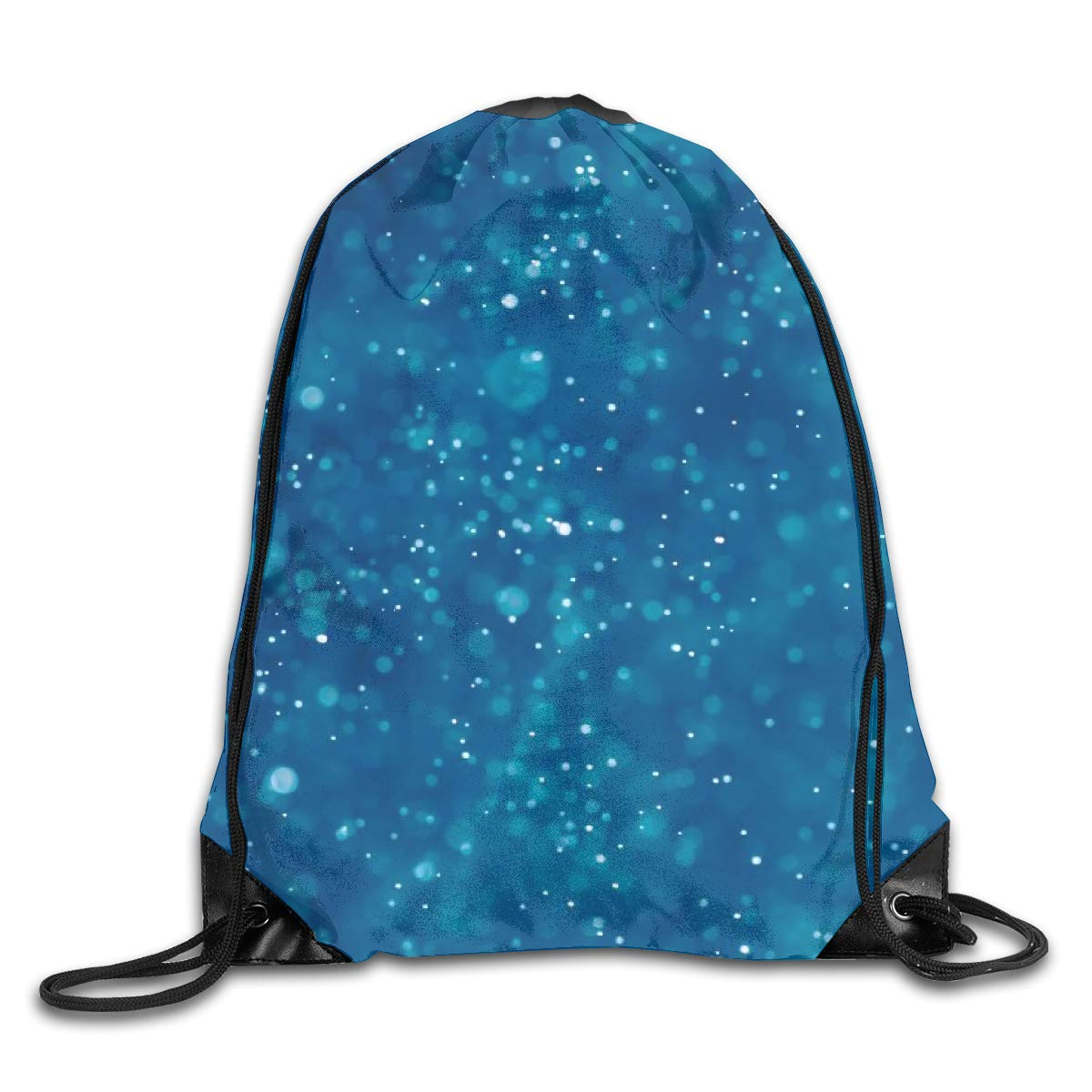 Blue Star Beam Mouth Backpack Pull Rope Shoulder Bag Outdoor Sports Leisure Bag