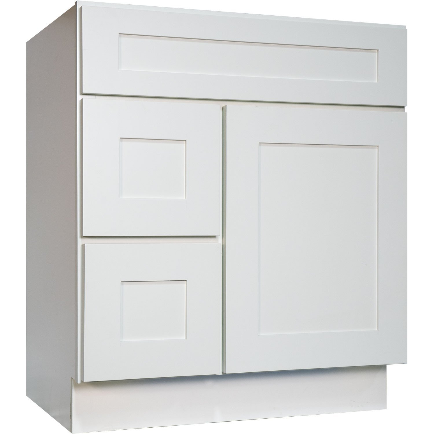 Everyday Cabinets 30 Inch Bathroom Vanity Single Sink Cabinet in ...