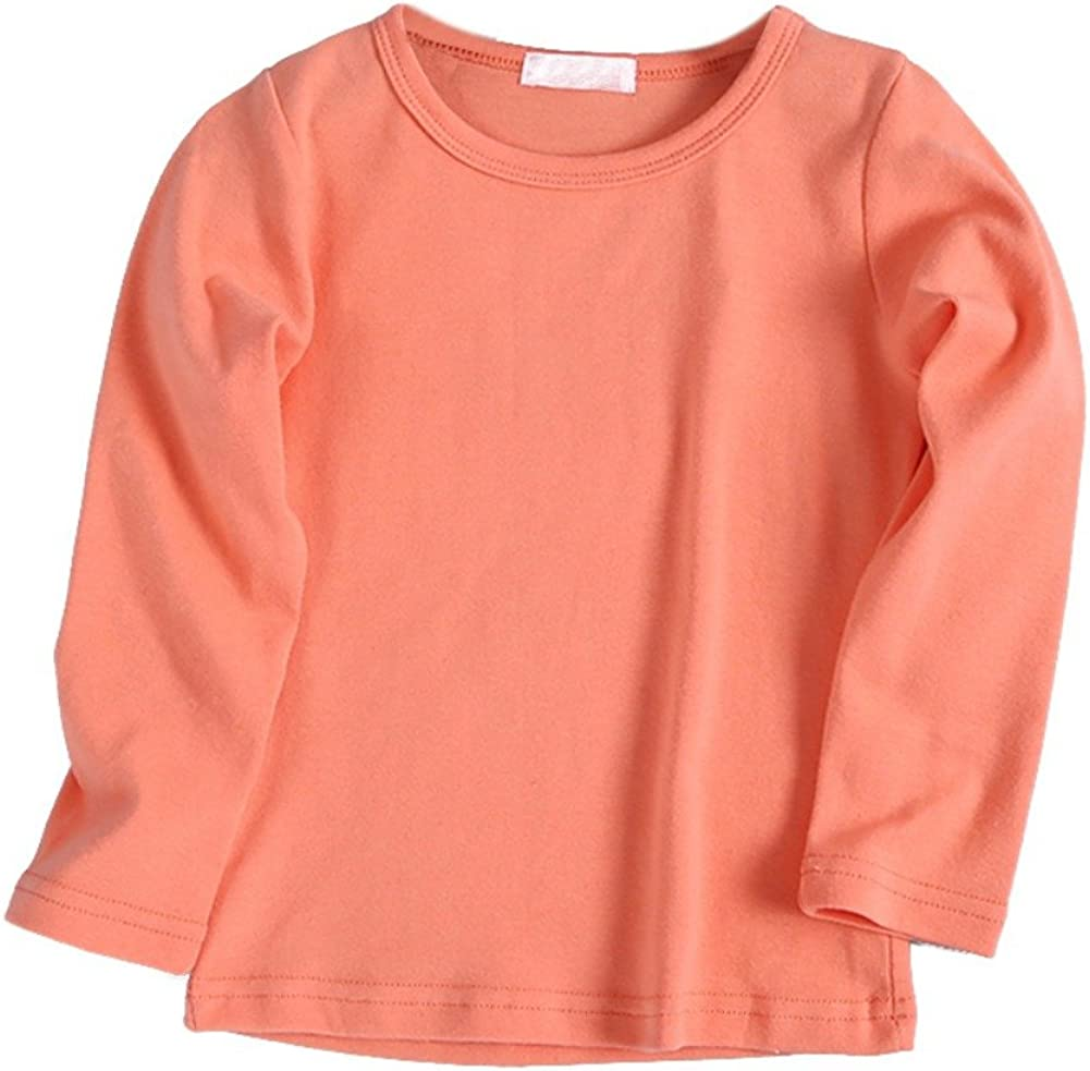 Brightup Primavera e autunno abbigliamento per bambini ragazzi e ragazze base maglietta in cotone T-Shirt bambini Top manica lunga