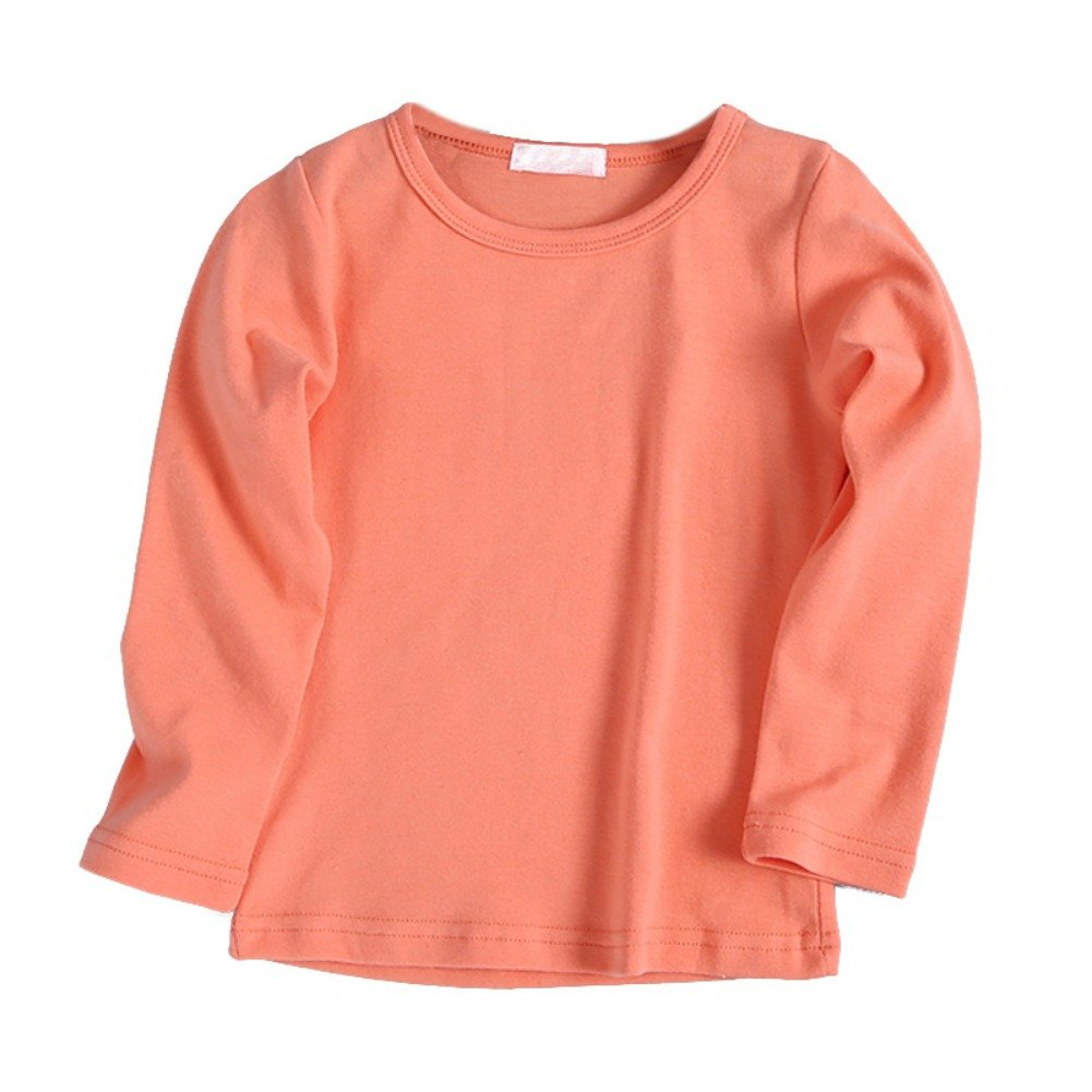 Brightup Spring Autumn Children's Clothing Boys Girls Base Shirt Cotton T-Shirt Kids Long Sleeve Tops