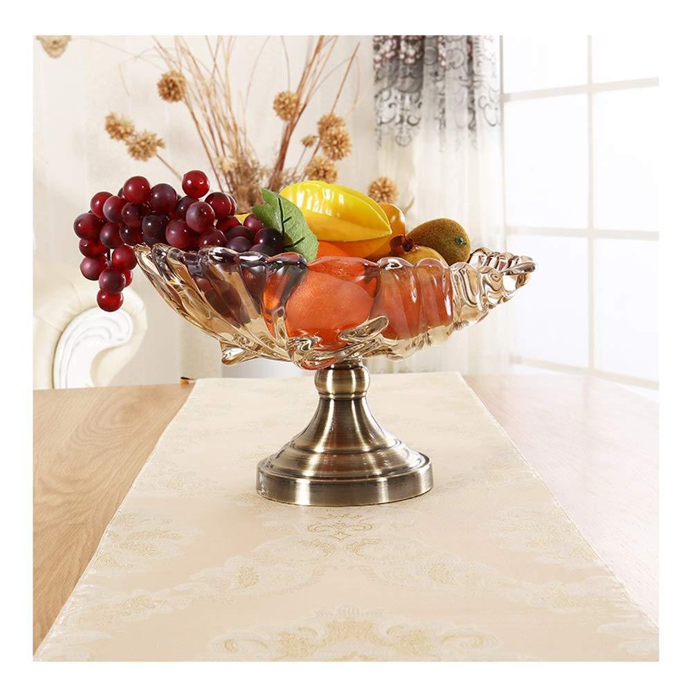 MWNV 供給エンボスガラスフルーツプレート工芸装飾装飾品リビングルームスナックプレートフルーツプレート -フルーツバスケット   B07PF5WZZZ