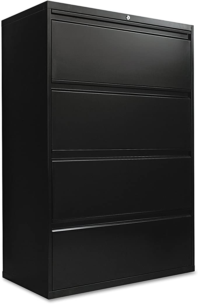 Alera 4 Drawer Lateral File Cabinet 36 By 19 1 4 By 54 Inch Black Furniture Decor Amazon Com