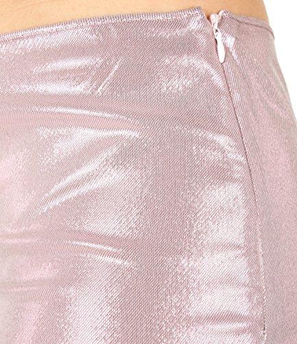 Rosa Lamè Alberta Donna In Ferretti Shorts A0319 Mod wfqRB