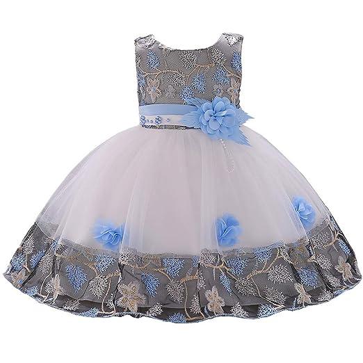 e17ae8da790c7 Amazon.com: mes amis Princess Formal Kids Toddler Dress Baby Flower ...