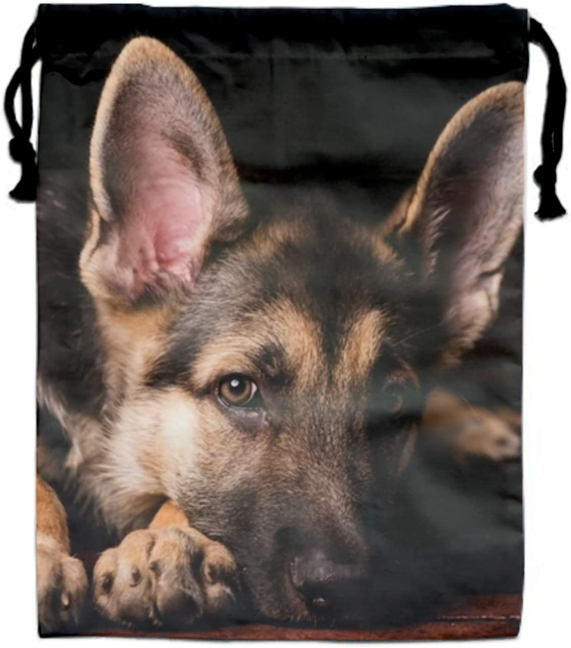 Drawstring Backpack German Shepherd Collage Shoulder Bags