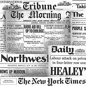 Galerie Yolo Newspaper Pattern New York Times Daily Express