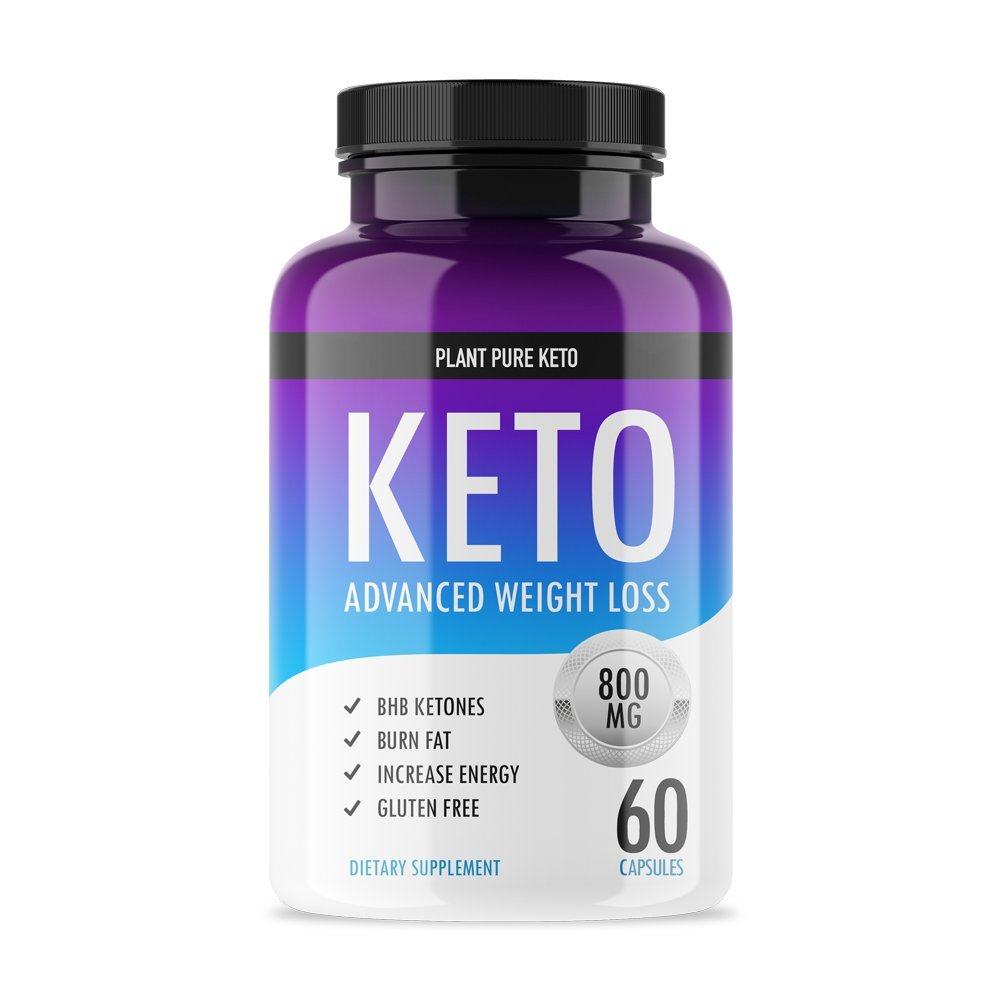 Plant Pure Keto - Ketogenic Fat Burner for Advanced Weight Loss Support - Burn Fat for Fuel Instead of Carbs - Ketosis Supplement with Nootropic Benefits - 60 Capsules by Plant Pure Keto