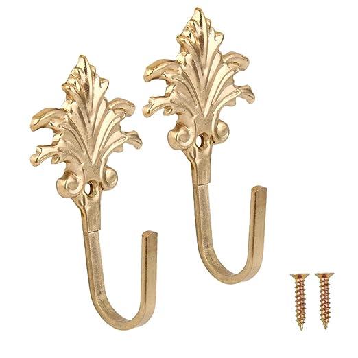 Amazon.de: Generic 1 Paar Vintage Ahorn Blätter Metall Raffhalter