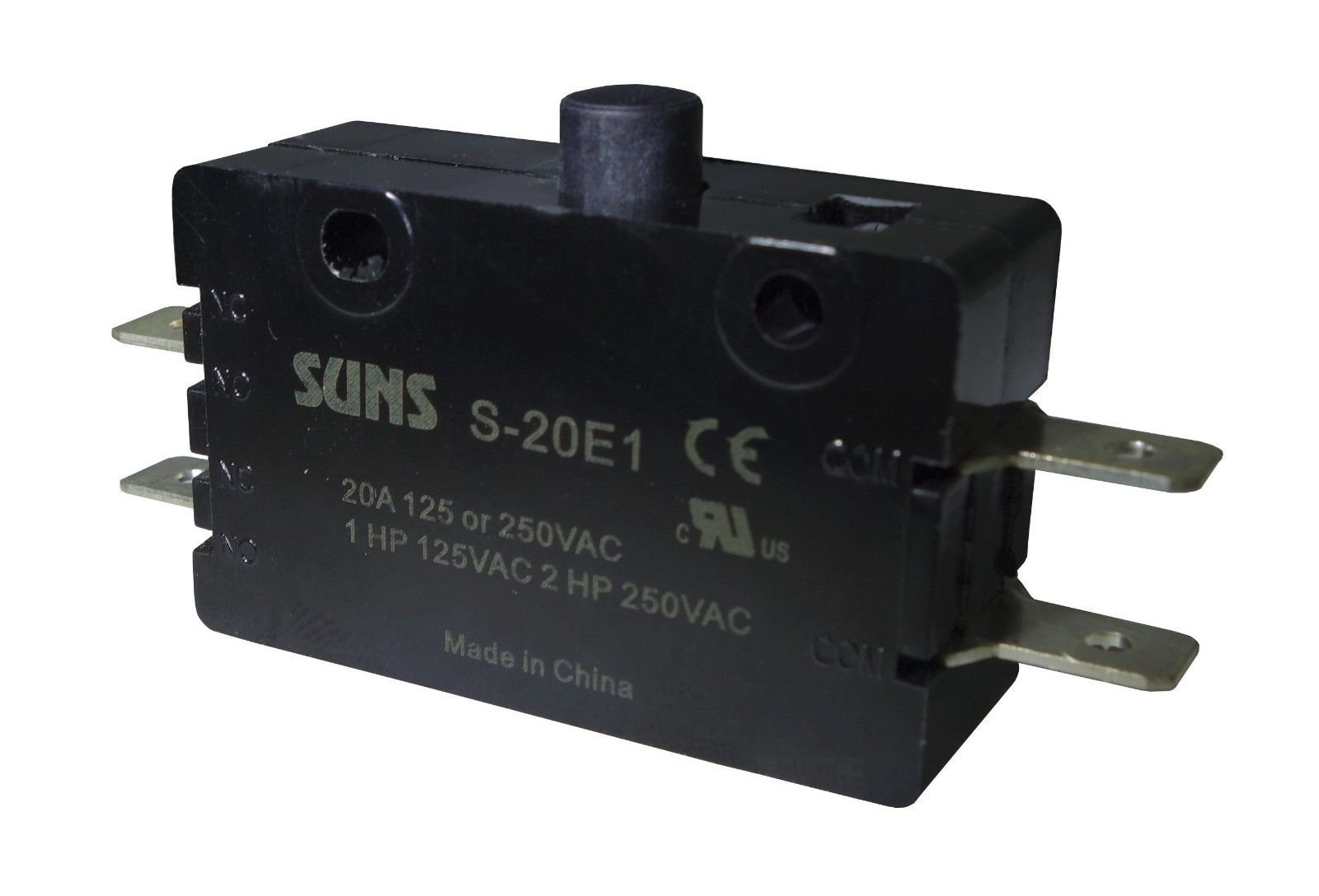Suns International S-20E1 S-20 Series DPDT (2NO) 20 A Plunger General Purpose Micro Switch - 1 Item(s)