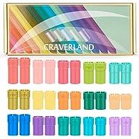 Pen Adapter Set for Cricut - Craverland Rainbow Pen Holder Accessories for Cricut Explore Air Air 2 Maker,Compatible…