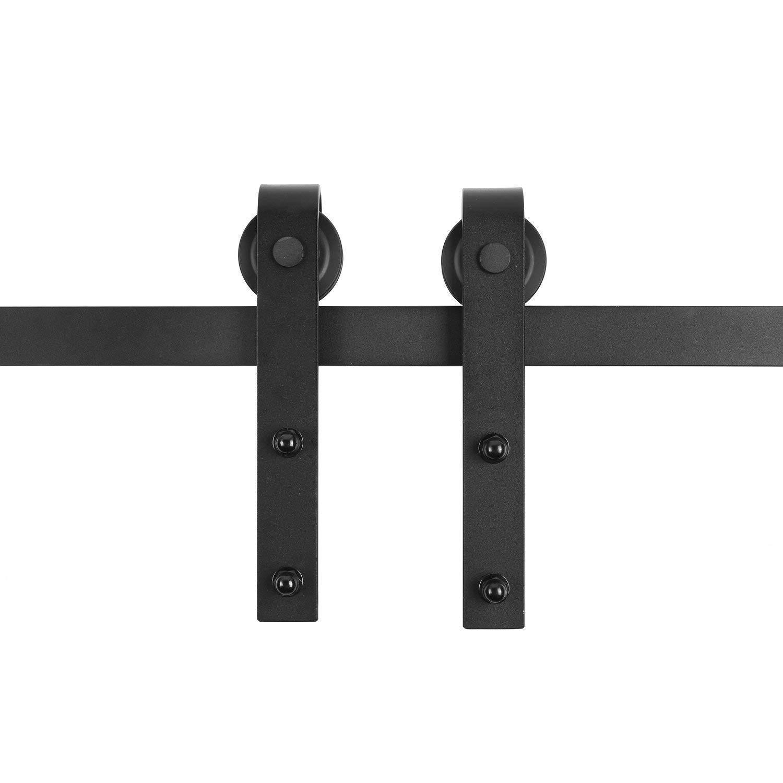 FIXKIT 6ft Schiebet/ürbeschlag Set Schiebet/ürsystem Zubeh/örteil mit plattierten Elektrotauchlacken Schienensplei 183.0cm
