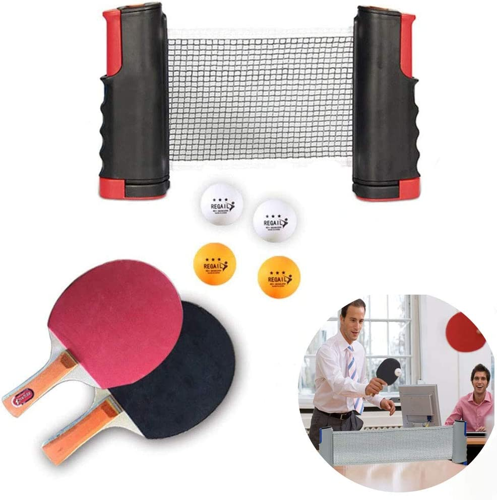 na Ping Pong Juego de Tenis de Mesa, Red de Tenis de Mesa retráctil Black-Red