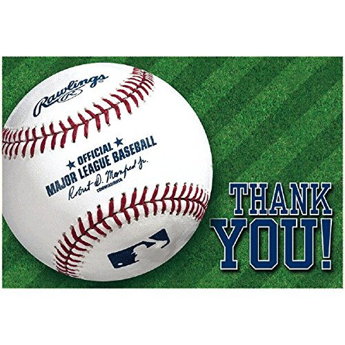 """Rawlings Baseball Collection"" Postcard Party Thank You Cards"
