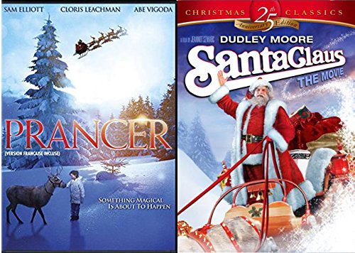 Santa Clause the Film & Prancer the Reindeer Double Function DVD Bundle 25th Anniversary Vacation Assortment