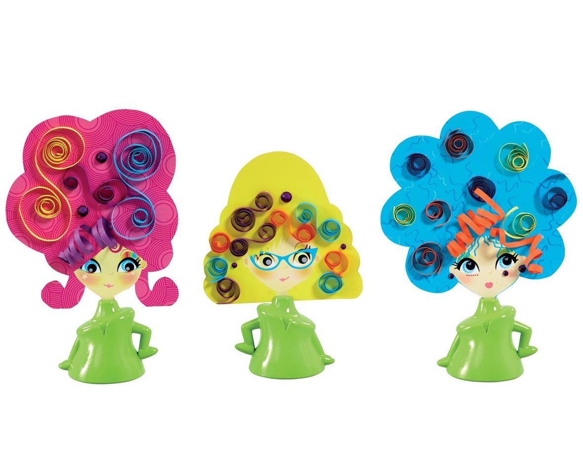Cool create Taglia e arriccia, Set di accessori per fare acconciature creative alle figurine