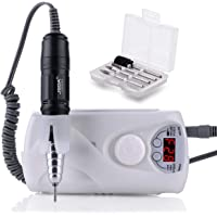 MAKARTT Professional 30000RPM Nail Drill Machine Rechargeable With Upgrade Handpiece Electric Nail File Low Vibration Speed Battery Monitor