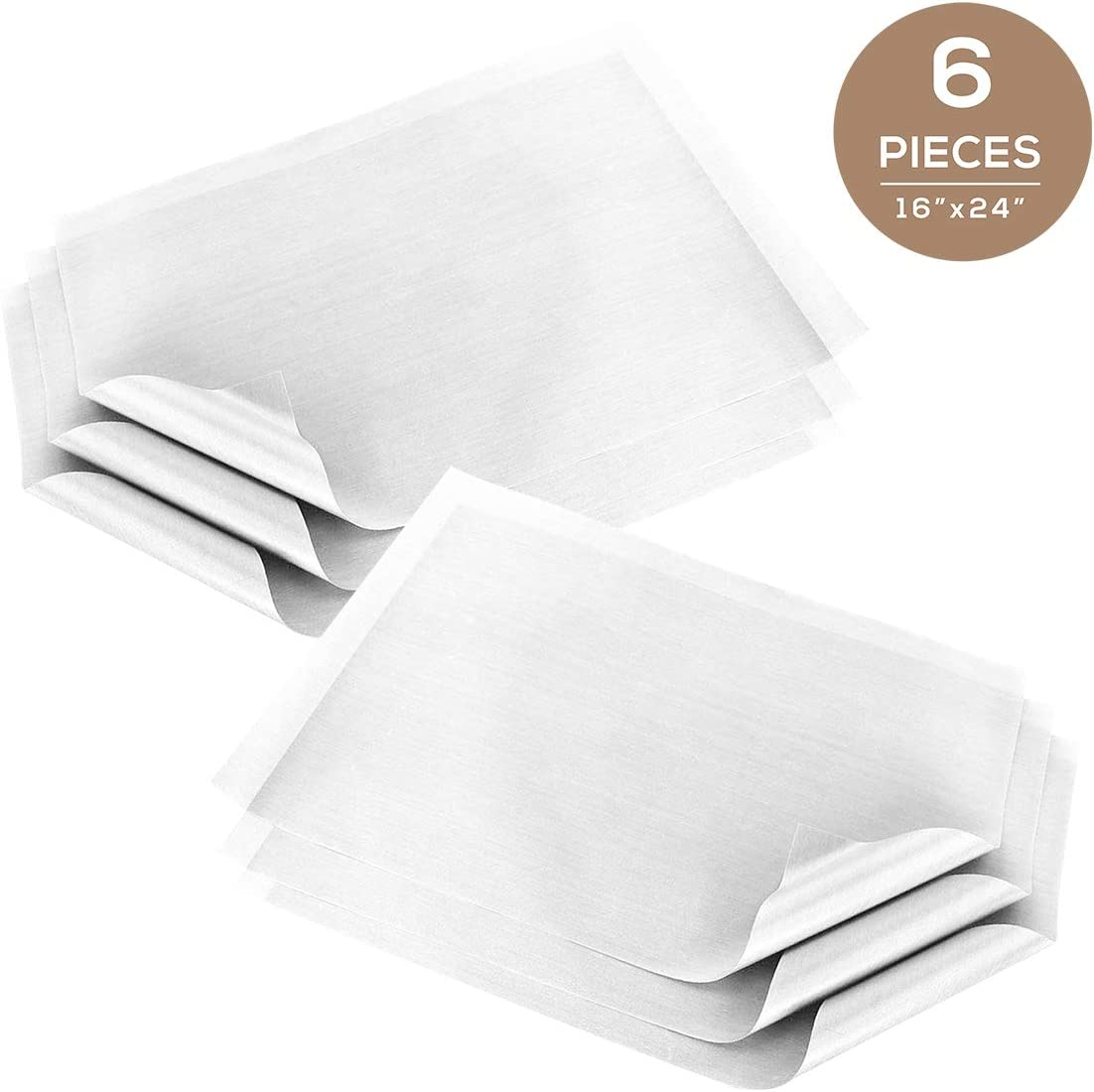 5 Pack Teflon Heat Press with Thickness of 0.11mm , 16x24 Light Brown