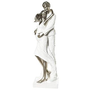 Skulptur Modern figur paar braut schwanger hochzeit baby deko 40cm skulptur modern