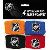 NHL Hockey Wrist Band Party Favors, 4ct