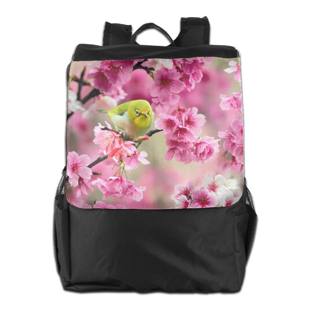 Believe Ddspp Sparrow Bird Japanese Sakura Flowers Outdoor Backpack  Rucksack Daypack good 18922972d372e
