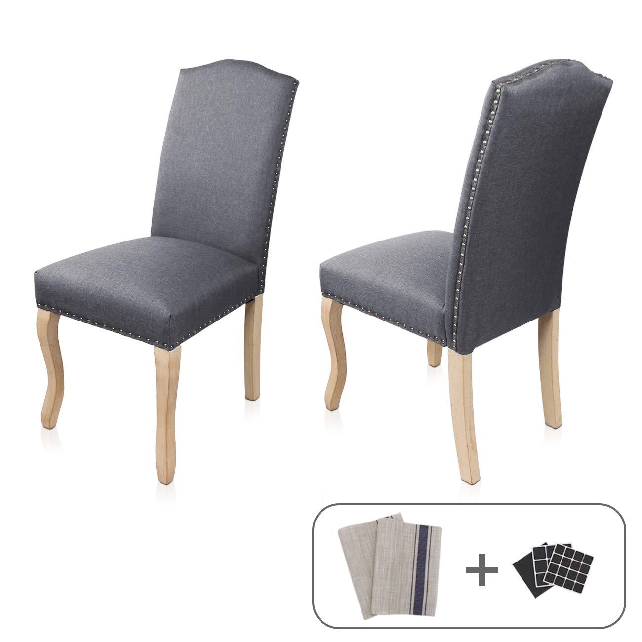 Amazoncom Dining Chairs Set Of 2 Aodailihb Solid Wood High Back