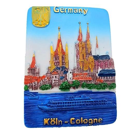 Hqiyaols Souvenir Colonia Alemania Resina 3D Refrigerador Imán de ...