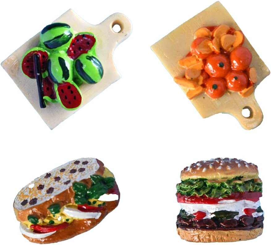 refrigerator magnets cute refrigerator magnets strong hamburger magnets vegetables magnets unique refrigerator magnets funny magnets mini fridge magnets cute refrigerator magnets 4pcs