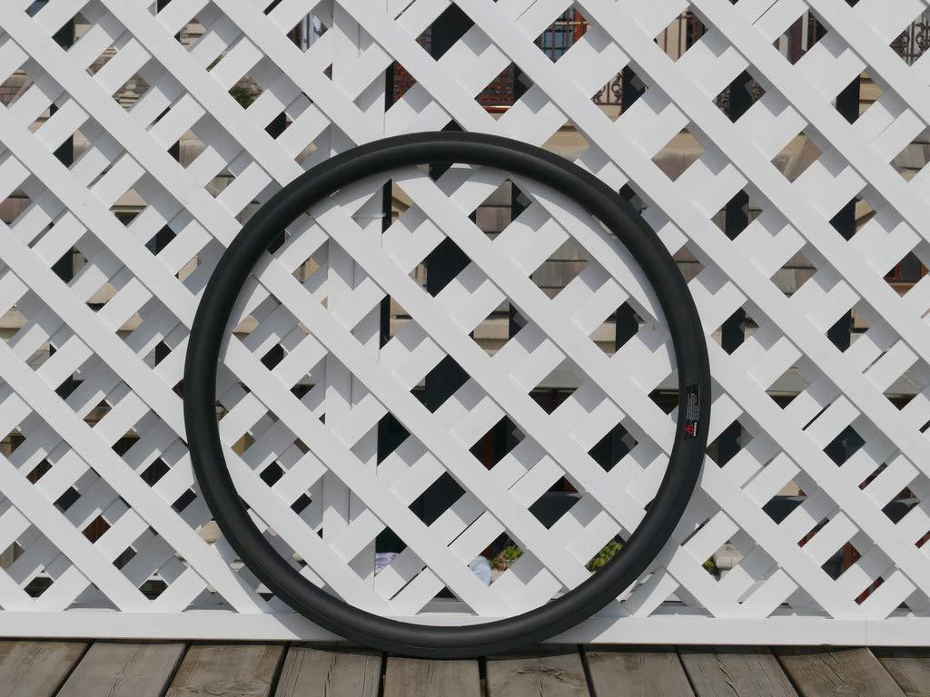 flyxii 幅23mm U字型 38mm サイクリングホイールリム 3K カーボン マット バイク チューブリム 700C カーボン ロード 自転車 リム 38mm (20、24穴)   B07PJS4C15